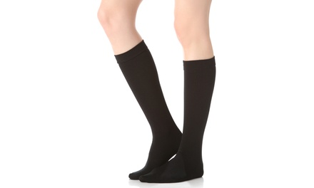 4-Pack of Women's Fleece-Lined Knee Socks