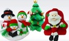 Singing and Dancing Christmas Decorations: Singing and Dancing Plush Holiday Decorations. Multiple Designs Available.