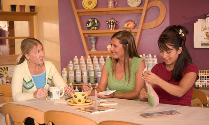 Color Me Mine - Multiple Locations: $12 for Paint-Your-Own-Pottery Studio Fees for Up to Five at Color Me Mine ($50 Value)