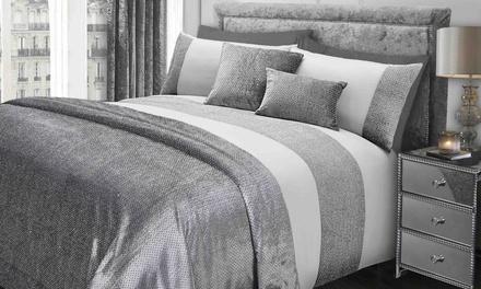 Sienna Velvet and Sparkle Finish Bedding Set