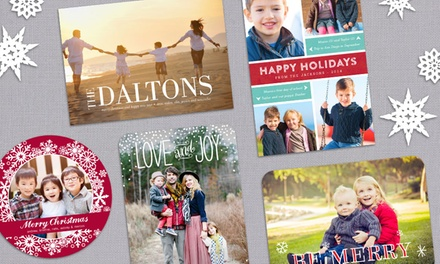 40, 70, or 100  Holiday Photo Cards from PhotoAffections (Up to 74% Off)