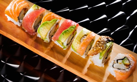 Sushi and Japanese Food for Lunch or Dinner at DOZO Sushi Grill Lounge (40% Off). Three Options Available.