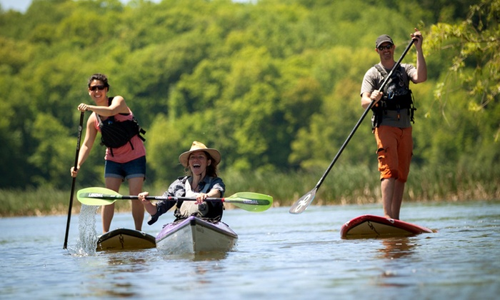 BayCreek Paddling Center - Penfield: Kayaking Course or Tour for One or Two, or Paddleboarding Lesson from BayCreek Paddling Center (Up to 51% Off)