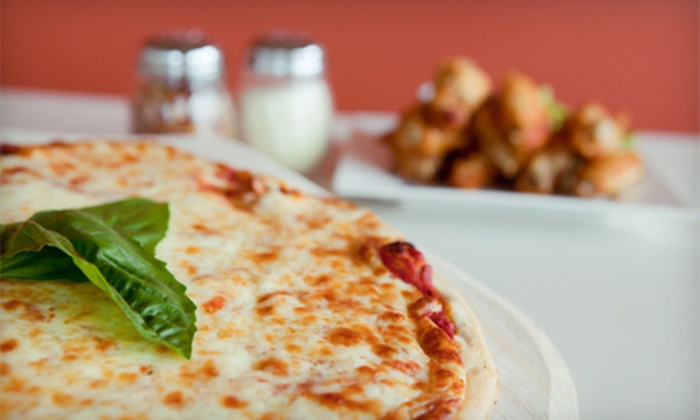 Marvin Mozzeronis - Multiple Locations: $11 for a Large Pizza and Boneless Wings at Marvin Mozzeroni's ($21.98 Value)