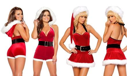 Christmas Velvet Santa Costume: One ($19) or Two ($29)