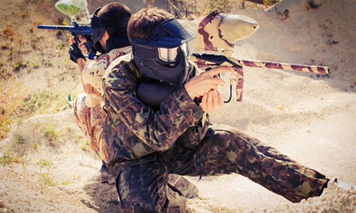 Hell Survivors Paintball Playfield - Downtown Dexter: All-Day Paintball Package for Four or Six with Gear at Hell Survivors Paintball Playfield in Pinckney (Up to 60% Off)