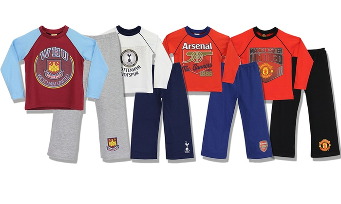 Boys Kids Everton Football Pyjamas PJs Blue Nightwear 4 to 12 Years Long Sleeve