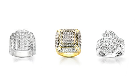 2-CTTW Diamond Fashion Ring. Multiple Designs and Finishes Available.
