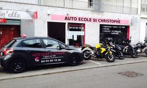Auto école saint christophe: Permis B avec 20 h de conduite à 599 € à l'Auto-École Saint Christophe