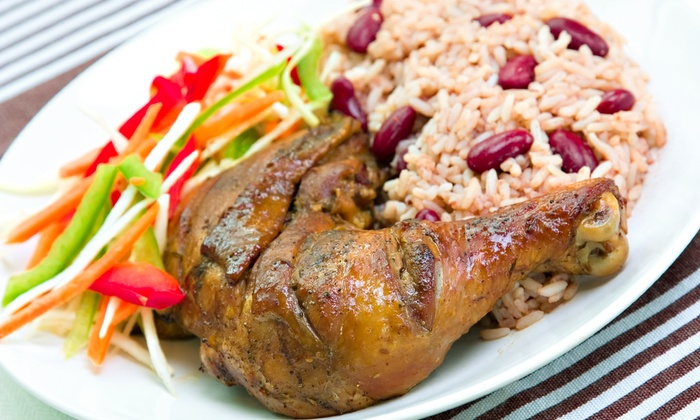 Jamaican Jerk Hut - South Street: $19 for $30 Worth of Jerk Chicken and Jamaican Food at Jamaican Jerk Hut