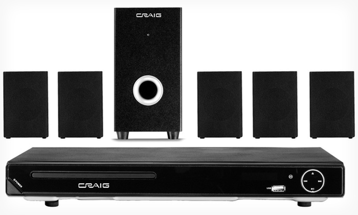 Craig 5.1-Channel Home-Theater System: $69.99 for a Craig 5.1-Channel Home-Theater System with DVD Player ($99.99 List Price). Free Shipping and Free Returns.