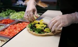 The Pita Pit: $12 for 2 Groupons, Each Good for $10 Worth of Pitas, Salads & Drinks at The Pita Pit ($20 Total Value)