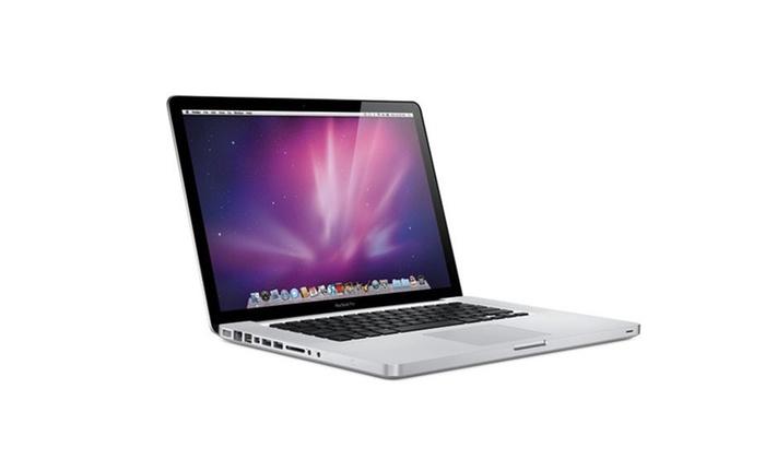 apple macbook pro i5 i7 reconditionn groupon. Black Bedroom Furniture Sets. Home Design Ideas