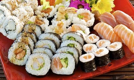 Menú para dos o cuatro con entrante, 40 u 80 piezas de sushi, bebida y postre desde 24,95 € en Kiyota Sushi