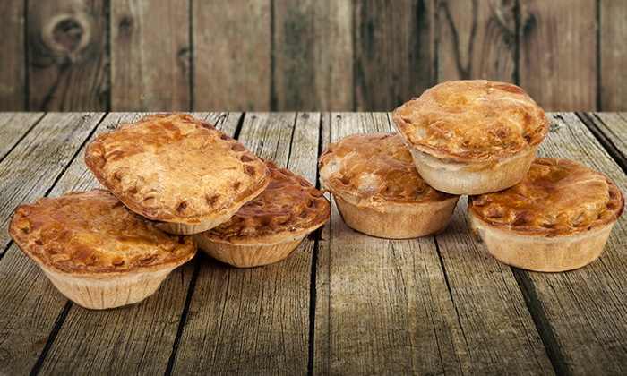 Eight-Pack of The Real Pie Company Chicken or Steak Pies for £12.99 ...