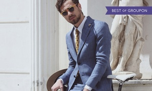 Bencivenga: Two or Three-Piece Made-To-Measure Italian Suit by Bencivenga (Up to 53% Off), Liverpool Street