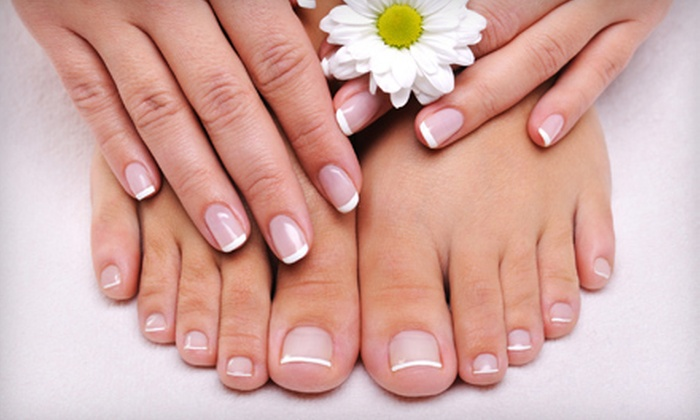 Nick's Nails & Spa - Woodstock: $25 for Mani-Pedi with Paraffin Treatment for Hands and Feet at Nick's Nails & Spa ($49 Value)