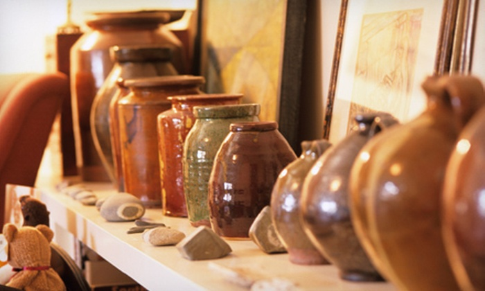 Earth & Soul Pottery - East Bayside - India Street: Two-Hour BYOB Pottery Workshop for Two or Four at Earth & Soul Pottery (Up to 59% Off)
