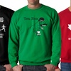 Crazy Dog T-Shirts Men's Printed Crewneck Sweatshirts