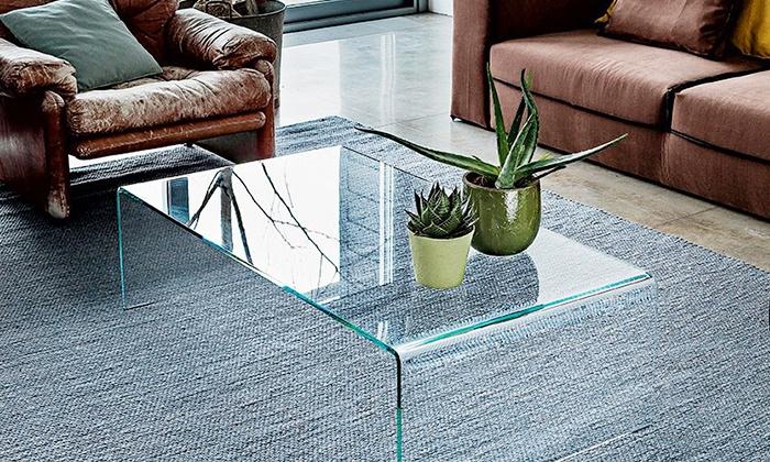 Tavolino da salotto in cristallo | Groupon Goods