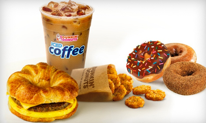 Dunkin' Donuts - Multiple Locations: $5 for $10 Worth of Donuts, Coffee, and Sandwiches at Dunkin' Donuts
