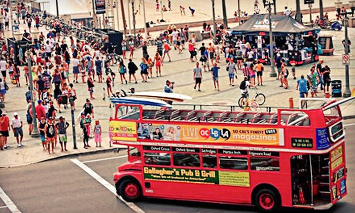 Big Red Bus - Marina Pacifica: Four-Hour Pub Crawls for One, Two, or Four from Big Red Bus (Up to 63% Off)