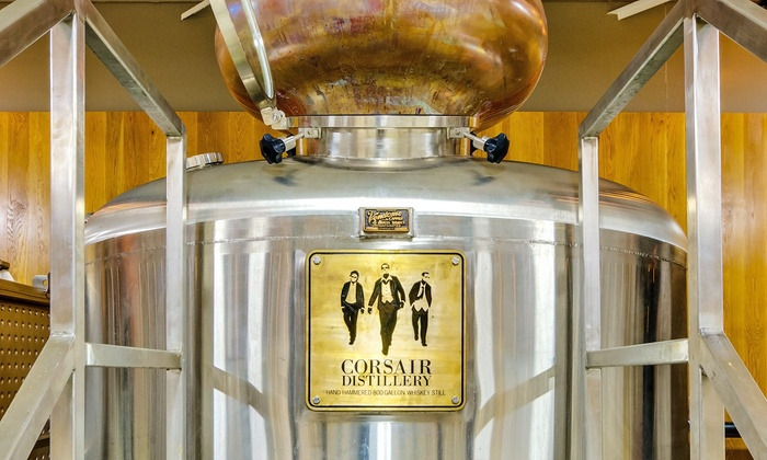 Corsair Artisan  - Corsair Artisan : Distillery Tour Package for Two or Four with Tasting and Rocks Glasses at Corsair Artisan (31% Off)