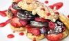 WonderWaffel Berlin - Mehrere Standorte: 2x WonderWaffel mit Eis, Früchten, Toppings u. Saucen inkl. Getränk in 4 Filialen von WonderWaffel Berlin (44% sparen*)