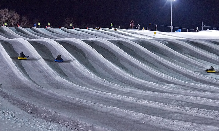 Cannonball Adventures - Near North Side: Afternoon Ski & Night Tubing at Sunburst & After-Party with Drinks & Round-Trip Transportation (Up to 34% Off)