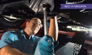 Advance Pitstop: Interim Car Service, Oil and Filter Change and Optional Techron Fuel System Cleaner at Advance Pitstop (Up to 53% Off)