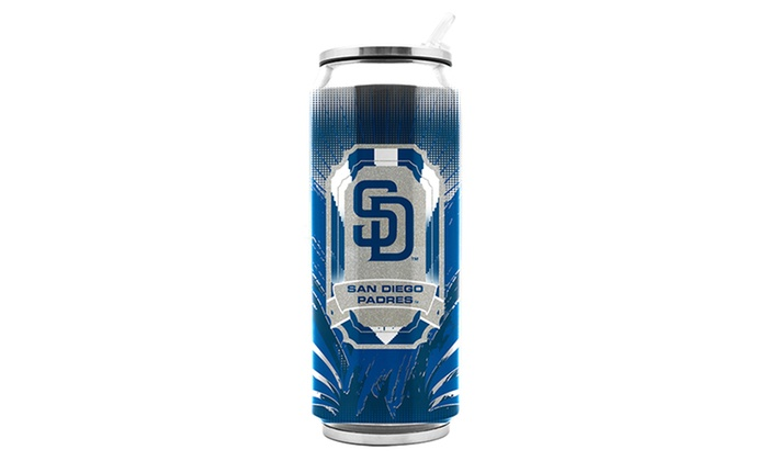 MLB Stainless Steel Thermocan: MLB San Diego Padres Stainless Steel Thermocan
