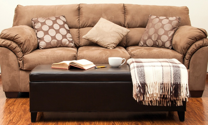 Admirable Dark Brown Bonded Leather Storage Ottoman Caraccident5 Cool Chair Designs And Ideas Caraccident5Info