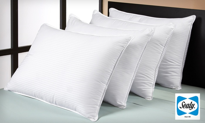 Sealy 300-Thread-Count Cotton Pillows: $35 for a Sealy Four-Pack of 300-Thread-Count Dobby-Stripe Cotton Pillows ($99.99 List Price). Free Shipping.