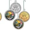NFL JFK Half-Dollar Coin Ornaments (2-Coin Set)