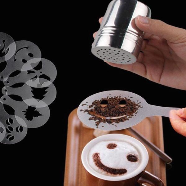 Coffee Stencil Sets Easy Food Art