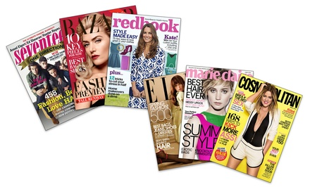 1-Year Subscription to Hearst Women's Fashion Magazines; Choose from Cosmopolitan, ELLE, Harper's BAZAAR, and More