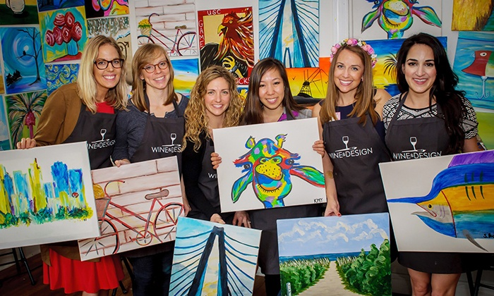 Wine & Design Cleveland West - Rocky River: BYOB Painting Class from Wine & Design Cleveland West (Up to 46% Off). Two Options Available.