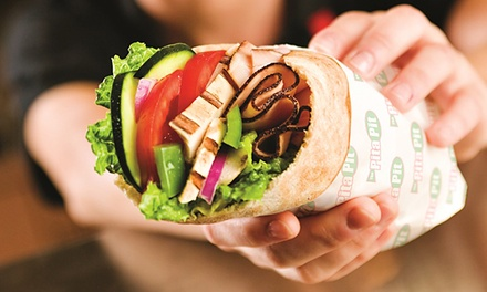 $12 for Four Groupons, Each Good for $5 Worth of Fresh Pita Sandwiches at Pita Pit ($20 Value)