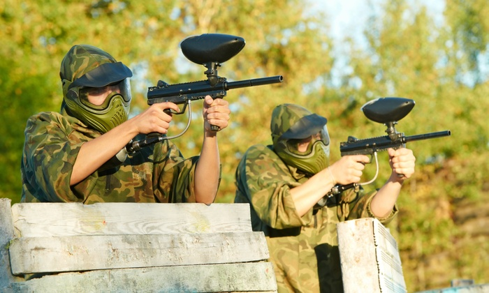 Battlegrounds Paintball at New Jersey Motorsports Park - Corbin City: One or Two All-Day Paintball Passes with Rental Gear at Battlegrounds Paintball at NJ MP (Up to 46% Off)
