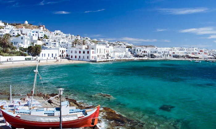 Greek Islands Vacation with Airfare - Polis Grand Hotel: 9-Day Greek Islands Vacation with Airfare from go-today; Price/Person Based on Double Occupancy