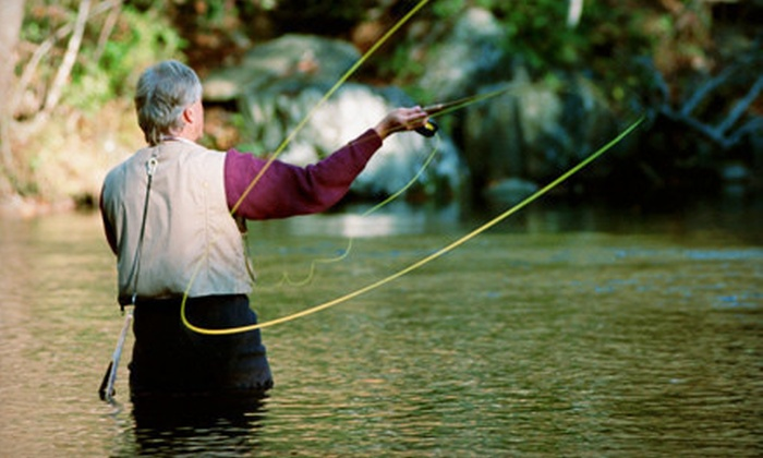 Dickson Flyfishing - Multiple Locations: Casting and Local-Fly Fishing Intro Class for One, Two, or Four at Dickson Flyfishing (55% Off)