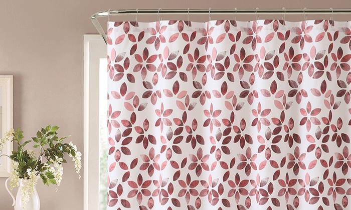 Veria 100 Cotton Shower Curtain Groupon Goods