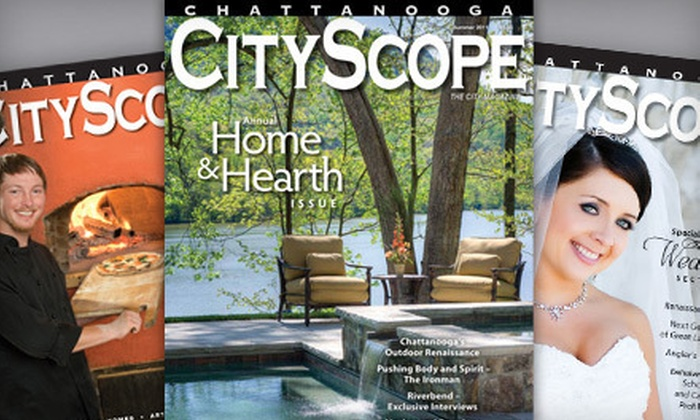 """Chattanooga CityScope - Chattanooga: One-Year Magazine Subscription to """"Chattanooga CityScope,"""" """"Chattanooga HealthScope,"""" or Both (Up to 57% Off)"""