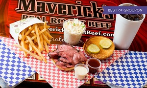 Maverick's Real Roast Beef Restaurant: Sandwiches and More at Maverick's Real Roast Beef Restaurant (Up to 44% Off)