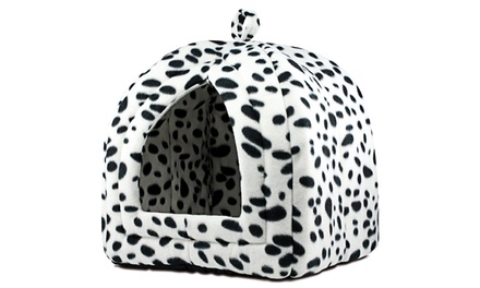 Pet Travel Hut with Soft Fleece Cushion