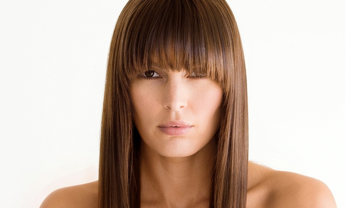 L K Salon - San Jose: Haircut with Options for Single-Process Color or Highlights, or Keratin Smoothing Treatment at L K Salon (Up to 73% Off)