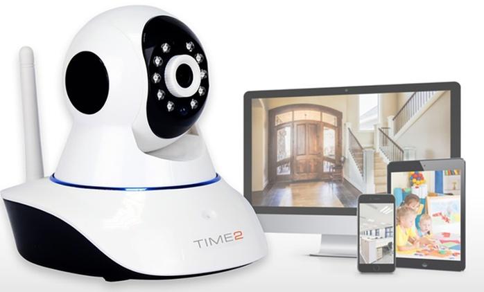 Caméra de surveillance Time2 HD rotative à 360° et sans fils, à 52,99€ (69% de réduction)