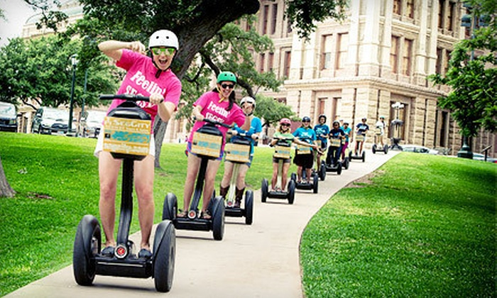 SegCity - Multiple Locations: Segway Tour for Two or Four or $5 for $25 Worth of Tour Upgrades from SegCity