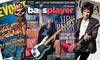 Guitar Magazines 1-Year Subscription: One-Year Subscription to Music and Guitar Magazines