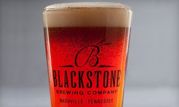 Blackstone Restaurant and Brewery - Nashville-Davidson metropolitan government (balance): Beer-Tasting Package with Appetizers for Two or Four at Blackstone Restaurant and Brewery (Up to 57% Off)